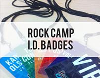 Rock Camp I.D. Badges
