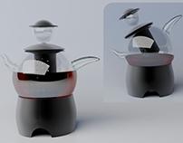 Gentleman's Tea - concept of jug with infuser
