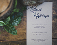 Wedding Menus & Place Cards
