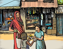 Illustration of Rural India