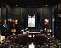 Classic dark interior 3D-Visualization&Design