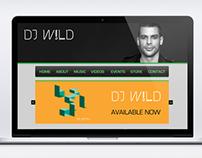 DJ W!LD - Website Concept