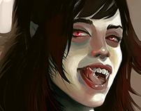 Vampire girl speed paint