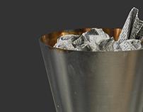Metal Trashcan