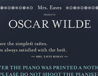 Poster Mrs. Eaves Presents Oscar Wilde