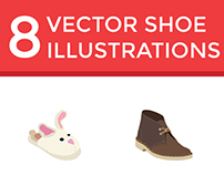 Flat Vector Shoe Icons (Free Download)