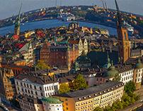 Stockholm under fisheye