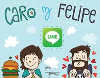Caro y Felipe - LINE