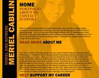Model/Actress Portfolio Website