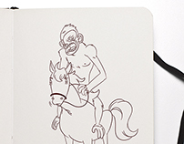 Sketchbook  Cesar Planet of the Apes
