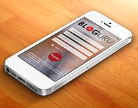Bloguru iPhone app concept