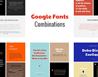 Google Fonts Combinations