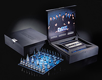 """SCM """"The Infernal Affairs Trilogy"""" Chess Set and Book"""