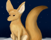 Fluffy Fennec Fox