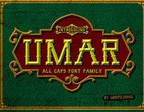 UMAR- All Caps Fonts Family