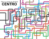 Mapa 'Trilhe seu caminho por São Paulo'