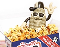 Filter017 X 909 TOY - POP CORN Vinyl Toy