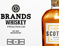 Whiskey Brands Label