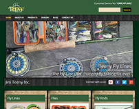 Jim Teeny Fly Fishing Website Design