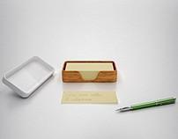 Calamaio - portapenna con fogli (penholder with paper)
