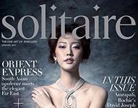 Solitaire magazine template and layout designs