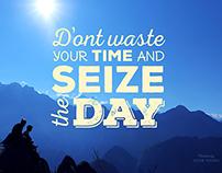 Seize the day - Wallpaper