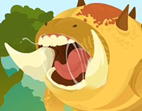 Caterpillar vs Corn / html5 Game