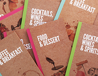 Recipe Bar menu catalogues