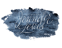 Water color calligraphy logos and business cards