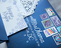 Wedding Invitations (Winter Snowflake)