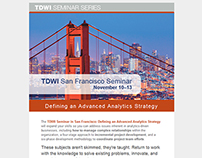 TDWI | San Francisco event e-mail redesign