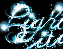 How to make a vector light drawing text effect