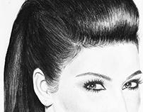 Kim Kardashian Portrait