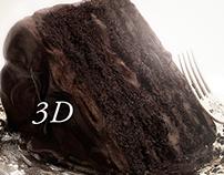 CHOCOLATE CAKE 3D