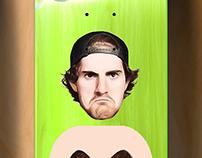 mike mo GIRL skateboard deck