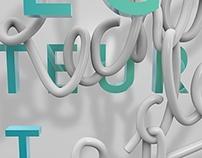 Typographie 3D - Recherche de stage.