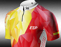 Corporate jersey. Spanish cycling team.