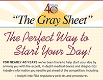 """The Gray Sheet"" Promotional"