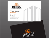Logo and Business Card Designs for Reign Property