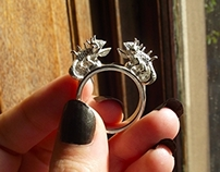 Twin Chameleon Ring