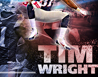 NE Patriot Tim Wright Graphic