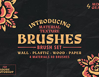 Material Texture Brushes for Photoshop