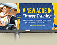 Fitness GYM Billboard Template