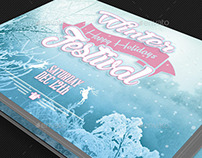 Winter Festival Postcard Template
