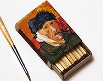 Van Gogh on matchbox
