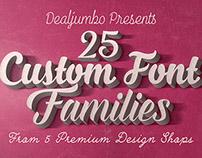 25 Custom Font Families