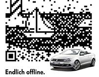 qr code illustration/design (volkswagen)