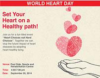 AKUH World Heart Day Print Ad