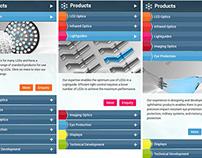 Polymer responsive website