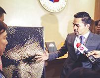 Sen. Manny Pacquiao Pushpin's Portrait Artwork